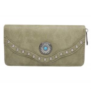 Portemonnee met steen groot groen.