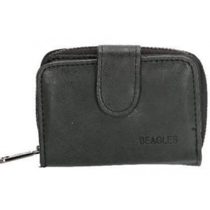 Klein Beagles portemonneetje zwart.