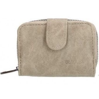 Klein Beagles portemonneetje grijs.