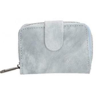 Klein Beagles portemonneetje lichtblauw.