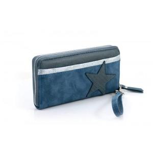 Portemonnee blauw met ster.