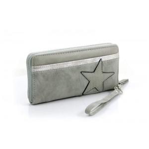 Portemonnee met ster lichtgrijs.