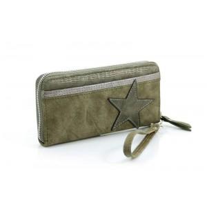 Portemonnee met ster groen.