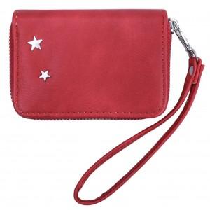 Portemonneetje rood met polsbandje.