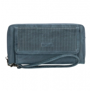 Beagles portemonnee met vakje blauw.