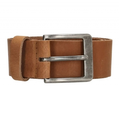 Old West leren riem breed cognac.