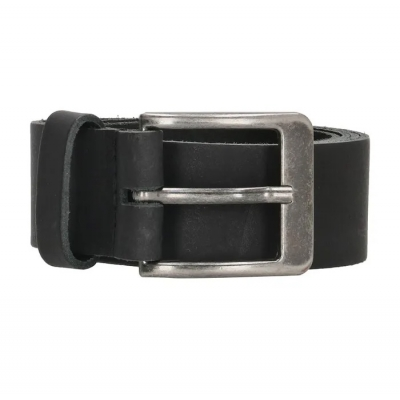 Old West leren riem breed zwart.