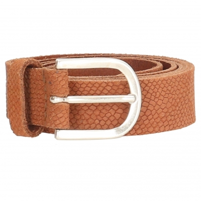 Old west leren riem camel.