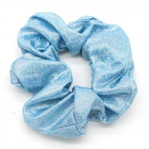 Scrunchie blauw met glitter.
