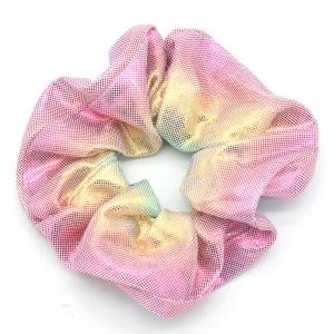 Scrunchie metallic roze.