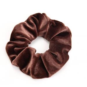 Scrunchie velvet bruin.