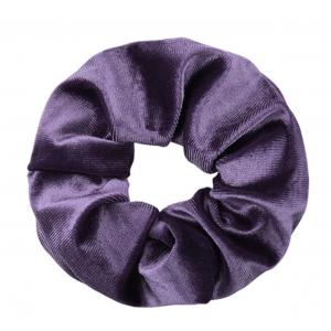Scrunchie velvet paars.