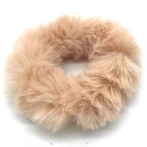 Fluffy scrunchie  beige.