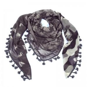 Sjaal sweetstars grijs.