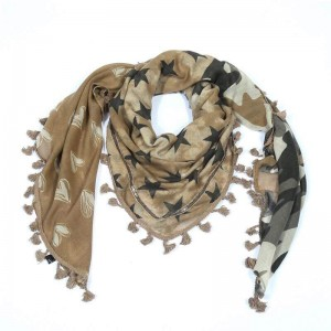 Sjaal sweetstars bruin.