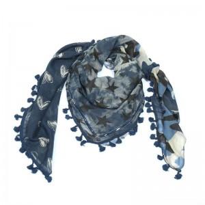 Sjaal sweetstars blauw.