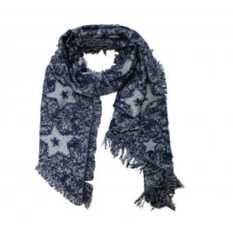 Schuine sjaal ster donkerblauw.