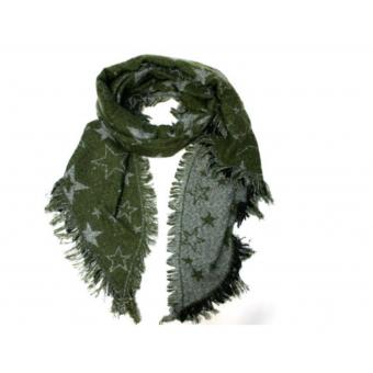 Sjaal groen met sterren.