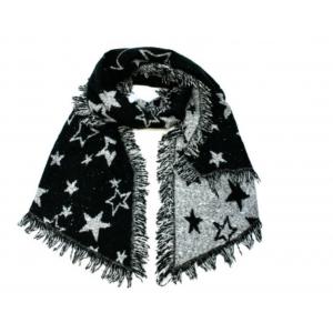 Sjaal zwart met sterren.