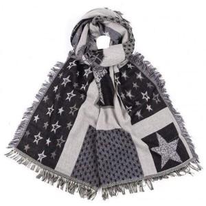 Sjaal langwerpig ster zwart.