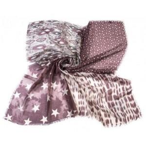 Vierkante sjaal bordeaux.