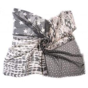 Vierkante sjaal grijs.