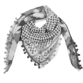 Sjaal Army grijs.