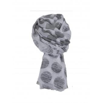 Sjaal met grijze stippen.