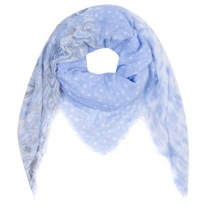 Sjaal blauw.
