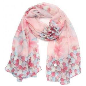 Sjaal figuur roze.