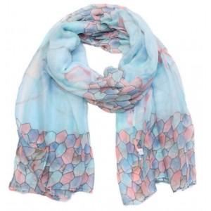 Sjaal figuur lichtblauw.