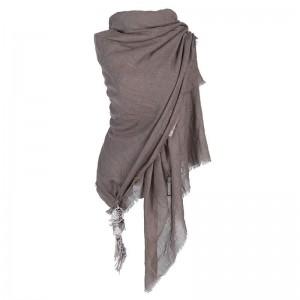 Sjaal taupe met dromenvanger.