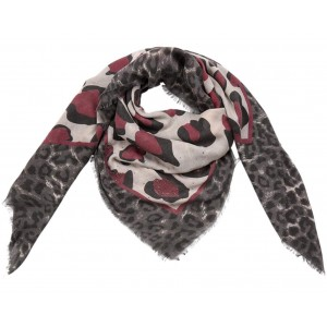 Sjaal panterprint rood.