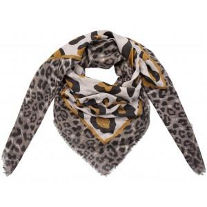 Sjaal panterprint geel.