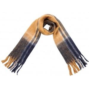 Warme sjaal okergeel.