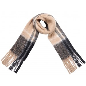 Warme sjaal beige.
