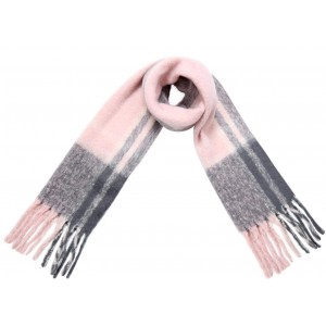 Warme sjaal roze.