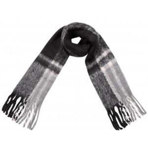Warme sjaal zwart.