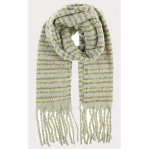 Warme sjaal groene streep.