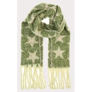 Warme sjaal groen ster.