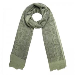 Sjaal slangenprint groen.