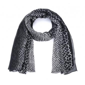 Sjaal croco zwart.