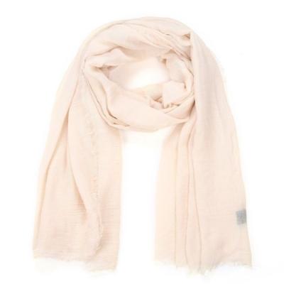Effen sjaal beige.