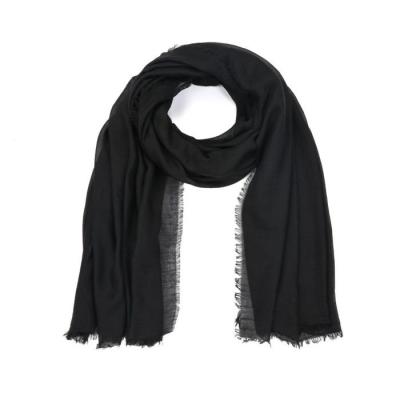 Effen sjaal zwart.
