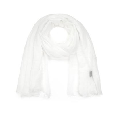 Effen sjaal wit.