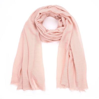 Effen sjaal licht roze.