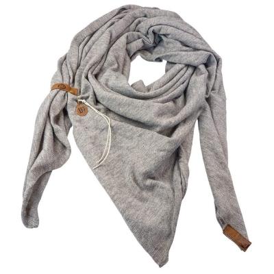 Sjaal Fien grijs.