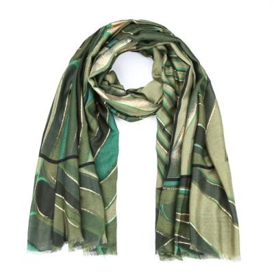 Sjaal mozaïek print groen.
