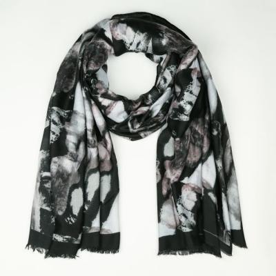 Sjaal 723 zwart.