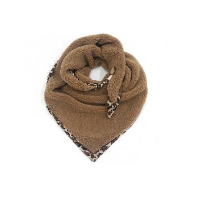 Panter camel triangle Teddy sjaal.